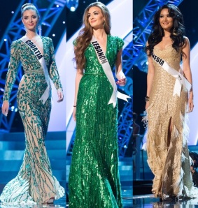 miss croatia and miss lebanon and miss indonesia